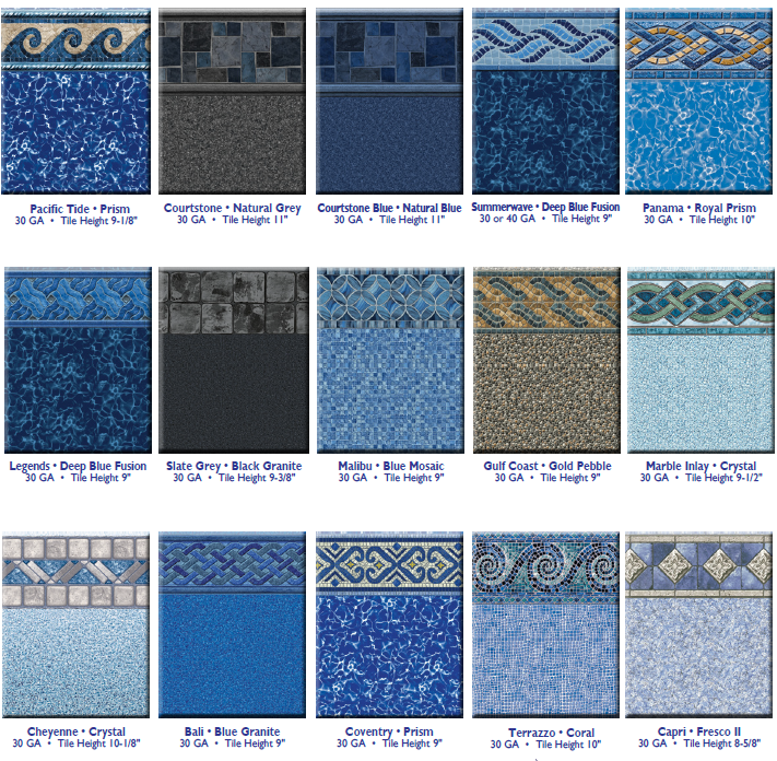 Liner pattern selections 2